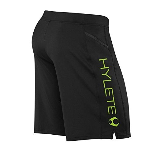 Hylete Shorts Crosstraining Vertex Zip Pocket Court Noir Vert M