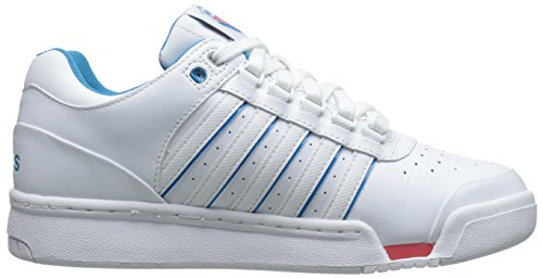 K-SWISS GSTAAD Sneaker women´s 91734-175 leather white White/Blue/Danube/Rose Of Sharon