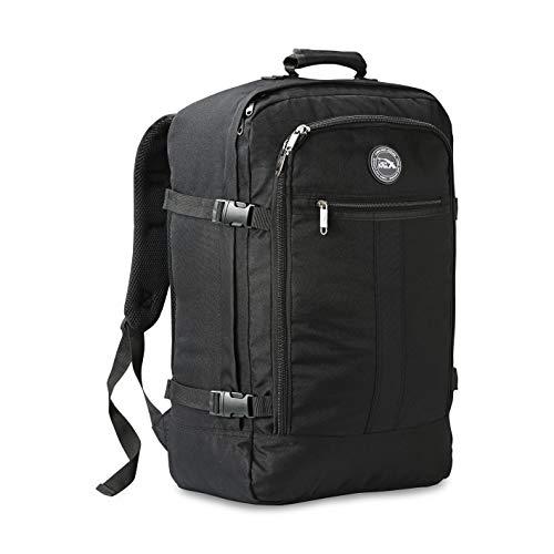 Cabin max metz, zaino da viaggio bagaglio a mano/da cabina, 44l (55x40x20 cm), nero/nero