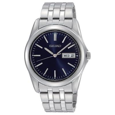 Seiko SGGA41P1 - Reloj analógico de caballero de cuarzo con correa de acero inoxidable plateada - sumergible a 30 metros de Seiko