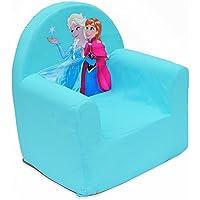 Reine des Neiges Disney Cars Club Chair Polyurethane, Fabric, blue, 41x37.5x29.5 cm