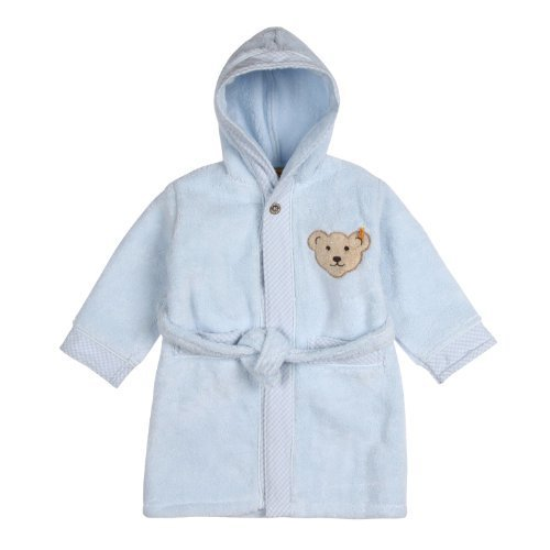 Steiff Unisex Baby 0002907 Bademantel Long Sleeve Bathrobe, Blue (steiff Baby Blue), 6 Years (Manufacturer size: 110/116) by Steiff Collection