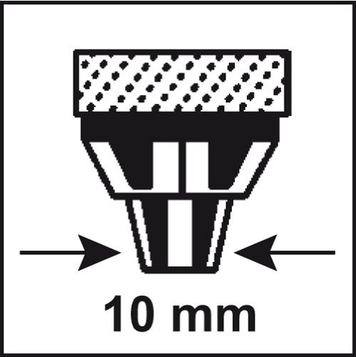 Connex COX781257 Universal-Rührquirl, Metall, 6-kant-Schaft, Schaft Ø 10 mm, Länge 400 mm, Rührkorb Ø 80 mm, Rührgutmenge 5-15 kg -