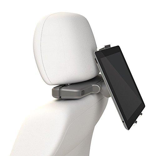 Sentivus Universelle Kombi Halterung für Tablets an der KFZ Kopfstütze + Wandhalterung in einem - von 7' bis 12' Zoll (16,2 bis max. 20,1cm) - frei verstellbar