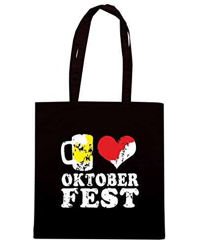 T-Shirtshock - Borsa Shopping BEER0042 beer love oktoberfest dark tshirt Nero