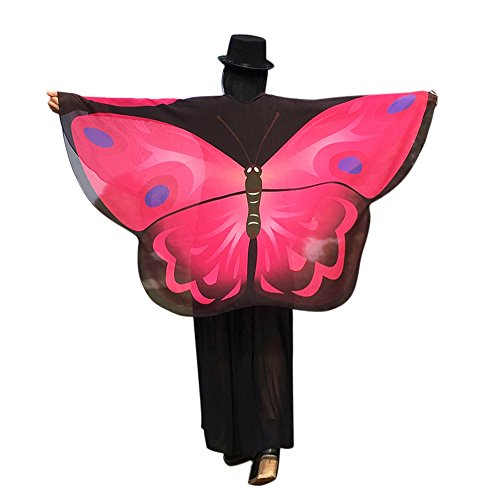 Damen Twister Kostüm - ZEELIY Loop-Schal für Damen Frauenkleidung Schmetterlingsflügel Loser Schal Kimono Cardigan Hemd Hemd