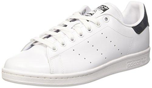 adidas Stan Smith, Baskets Basses Homme, Blanc (Footwear White/Footwear White/Core Black), 42 EU