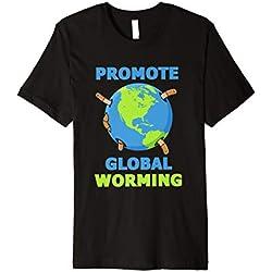 Fördern Sie das globale Worming! Lustiger Wurm kompostiert