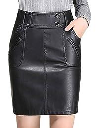 0f5f4ad7f48f Amazon.es: falda lapiz piel - Faldas / Mujer: Ropa