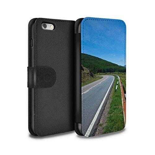 STUFF4 PU-Leder Hülle/Case/Tasche/Cover für Apple iPhone 6S / Pack 14pcs Muster / Schottisch Landschaft Kollektion Straße