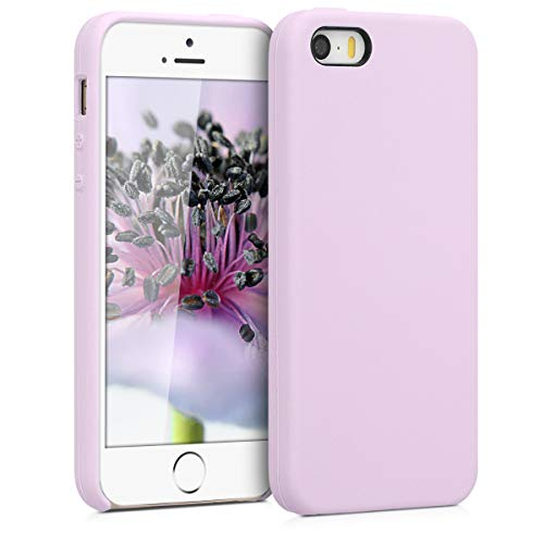 kwmobile Apple iPhone SE / 5 / 5S Hülle - Handyhülle für Apple iPhone SE / 5 / 5S - Handy Case in Mauve (Handy-zubehör Für 5s Iphone)