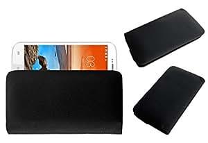 Acm Rich Leather Soft Case For Karbonn Smart A25+ Plus Mobile Handpouch Cover Carry Black