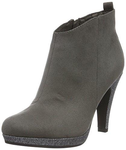Graue Ankle-boots (Marco Tozzi Damen 25363 Kurzschaft Stiefel, Grau (Grey Comb 221), 40 EU)