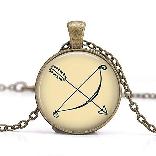 Pfeil und Bogen Anhänger Halskette, Bogenschießen Schmuck, Geschenk für Archer Schmuck, Anhänger