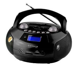 Biostek BMX 109 BLK Radio/Radio-réveil Lecteur CD MP3 Port USB