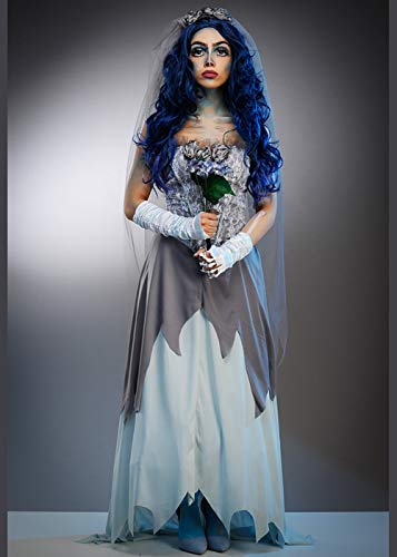 Magic Box Int. Halloween-Zombie-Leichen-Braut-Art-Kostüm der Frauen Medium (UK 10-12) (Arten Von Zombie Kostüm)