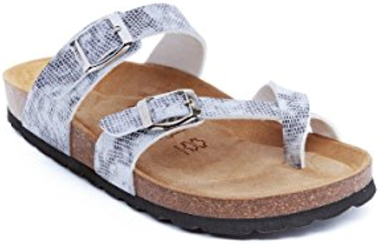 ae1c5cad11b4 Mandèl Women s MD4023 Fashion Sandals Black and White B079SBCPZN B079SBCPZN  B079SBCPZN Parent 58ff99