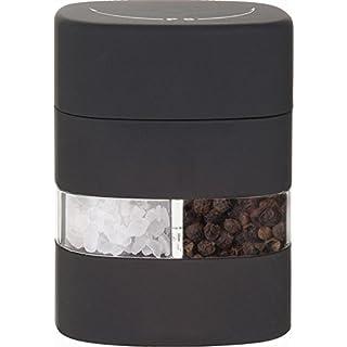 APS 2 in 1 Salz u. Pfeffermühle, ABS, Acryl, schwarz, 6 x 5 cm, H: 8 cm