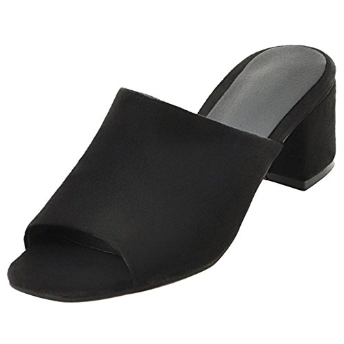 Coolcept Femmes Peep Toe Mules Black