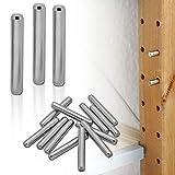 tumundo Regalbodenhalter für IKEA Ivar Stifte Bolzen Boden-Träger Dübel Schrank Einlegeboden Garten Set 4-48 Stück Edelstahl, Stückzahl:12 Stück