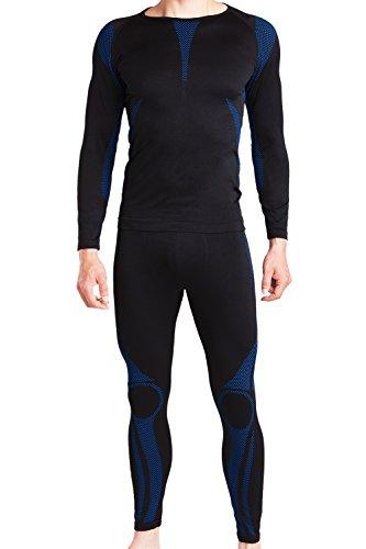 celodoro – Set de ropa deportiva funcional sin costuras para hombre – Camiseta y pantalón térmicos con elastano – Para esquí – En diferentes colores