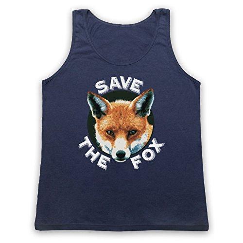 Save The Fox Protest Tank-Top Weste Ultramarinblau