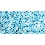 Aquarium Kies 2kg Tasche verscheidene Farben mit Behandlung Beutel für alle Arten von Aquarium Aquarien tropisch & Goldfisch - Aqua blau