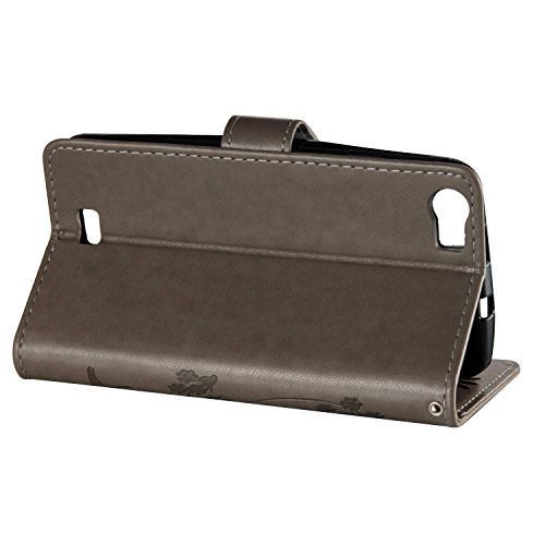 Sony E5 Gehäuse, Blumen Schmetterling gepresst Muster Solid Color PU Leder Stand Case mit Hold & Lanyard & Wallet & Card Slots für Sony E5 ( Color : 9 , Size : Sony E5 ) 10