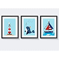 Kinderbilder Tiere Set Kinderzimmer Poster maritim Kinderbilder maritim Poster Kinderzimmer Jungen Bilder Kinderzimmer Jungen Bilder Kinderzimmer Mädchen