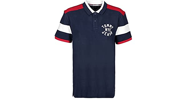 Tommy Hilfiger Polo Uomo Essential Badge Blu Navy: Amazon.it