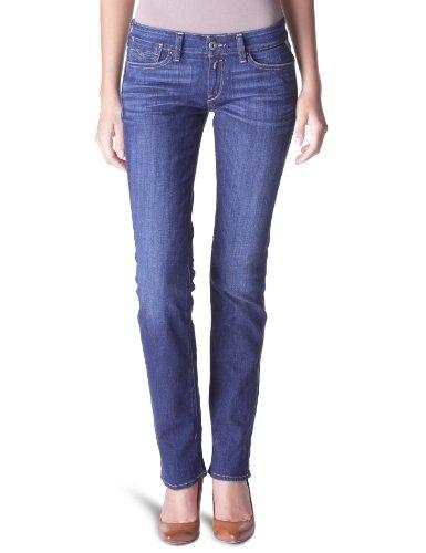 Replay Damen Straight Fit Jeans Jennpez W401 Blau (10.5 OZ STRETCH DENIM)