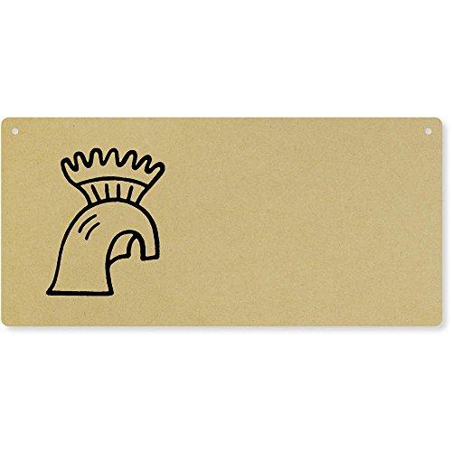 Helm' Groß Holzwand Plakette / Türschild (DP00026884) ()