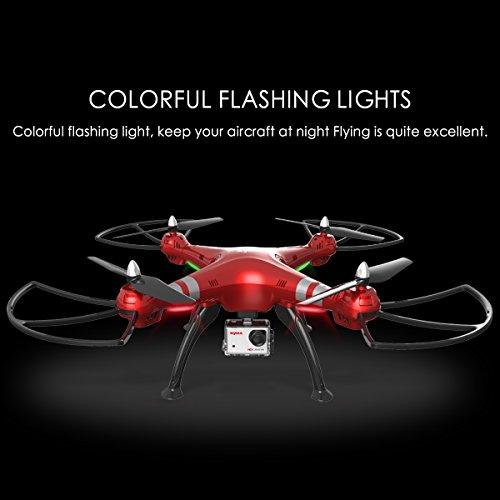 Syma X8HG (Upgrade Syma X8G) 2,4 GHz 6-Achsen-Gyro RC Ferngesteuerte Quadcopter Drone Quadrocopter Drohne mit 8MP HD-Kamera Einen Höhenstabilisator-Rote - 6