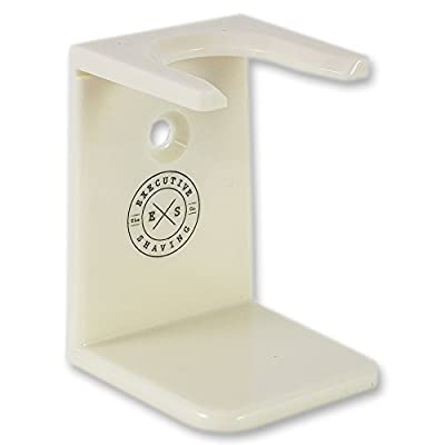 Executive Shaving Universal Shaving Brush Stand In Cream Acrylic