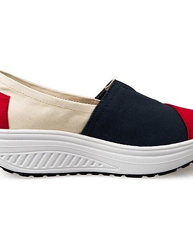 ZQ Scarpe Donna Di corda Zeppa Plateau/Scarpette da culla Mocassini Tempo libero/Ufficio e lavoro/Casual Blu/Rosso , red-us6.5-7 / eu37 / uk4.5-5 / cn37 , red-us6.5-7 / eu37 / uk4.5-5 / cn37 blue-us5.5 / eu36 / uk3.5 / cn35