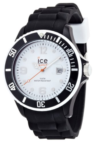 Ice-Watch Men's Quartz Watch with White Dial Analogue Display and Black Silicone Strap SI.BW.B.S.12