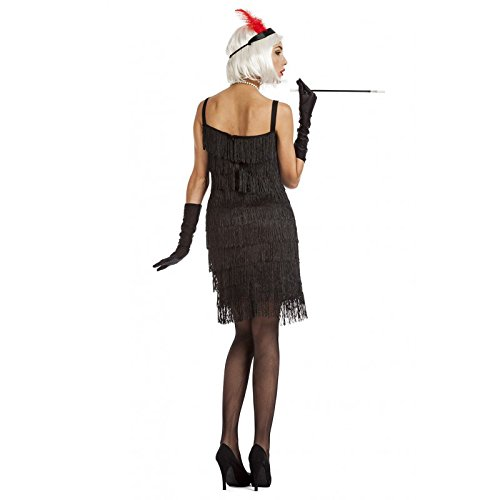 Imagen de disfraz charlestón flecos negro m l alternativa