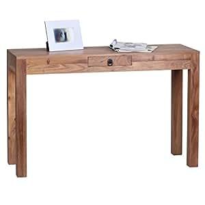 wohnling konsolentisch massivholz akazie konsole mit 1 schublade schreibtisch 120 x 40 cm. Black Bedroom Furniture Sets. Home Design Ideas