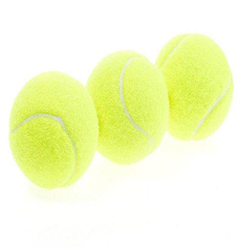 3x Demarkt Tennisbälle –Tennis Balls Tennis Practice Ball – Ideal for Tennis Playing and Teaching, Practice Training Pets Gelb