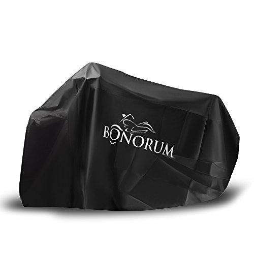 Premium-Motorradabdeckung aus reißfestem 190T-Stoff - 2-fach abschließbar und windgeschützt - perfekter Schutz gegen Regen, Sonne und Staub - In drei Größen erhältlich (XL)