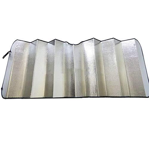 C-J-Xin Sonnenschutz, LKW Sonnenschutz Sun Block Front Windschutzscheibe Glasabdeckung verdicken verlängern Aluminiumfolie faltbar Auto-Sonnenschutz ( Color : Silver , Size : 230*70CM ) - 3 Blocks Hocker