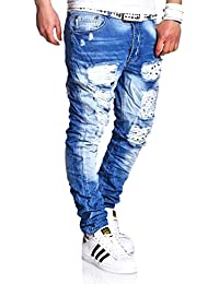MT Styles Destroyed Jeans Slim pantalon Fit RJ-2220
