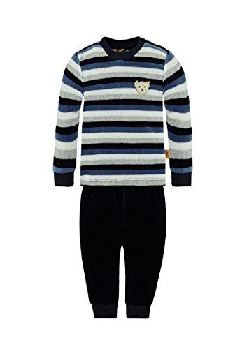 Steiff Collection Mädchen Bekleidungsset Schlafanzug 2tlg., Gr. 74, Blau (moonlight blue 3820)