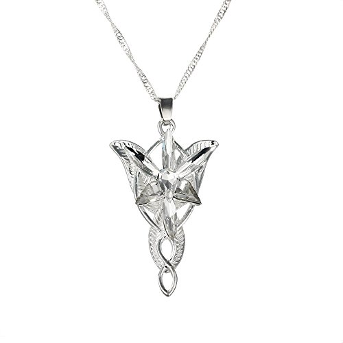 Yellow Chimes Arwen's Evenstar Necklace Lord of The Rings Silver Pendant for...