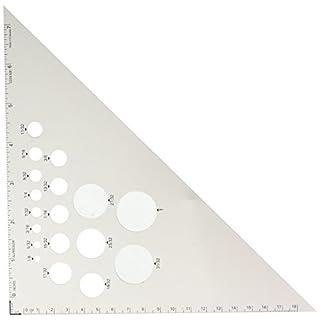 Alumicolor 45-90 Degree Drafting Triangle, Aluminum, 8 inches, Silver (5281-1)