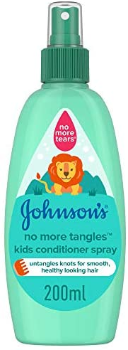JOHNSON'S Toddler & Kids Conditioner Spray - No More Tangles, Formula Free of Parabens & Dye