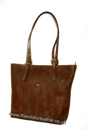 Sac avec deux poignées, Shopper Sac en cuir STORY DONNA The Bridge brun 049015/01/14 braun