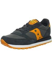 Saucony Sneaker Jazz in Suede Grigio Antracite E Arancione 4b2d1eaf1e3