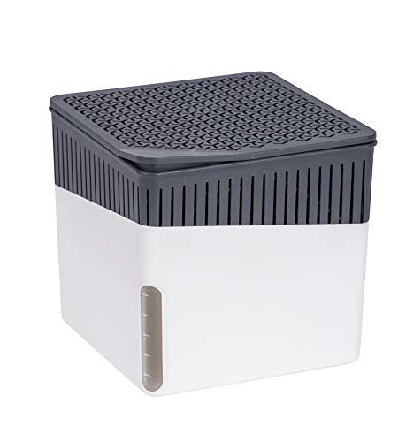 WENKO 50220100 Raumentfeuchter Cube, 1000 g, Luftentfeuchter Fassungsvermögen: 1,6 l, 16,5 x 15,7 x 16,5 cm, weiß