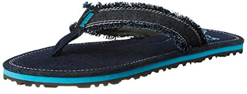 Puma Men's Roger Dp Black and Cyan Blue Flip Flops Thong Sandals – 8 UK/India (42 EU) 41NdRnDpodL